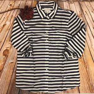 J CREW STRIPE BOY SHIRT